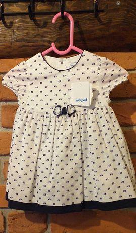 Sukienka niemowlęca Mayoral rozm. 75 6-9 mcy