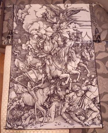 Гобелен картина всадники апокалипсиса картина покрывало рыцарь