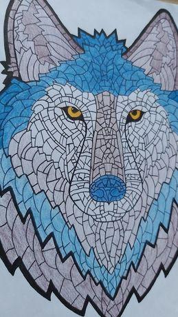 Rysunek geometryczny - Wilk