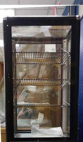 Витрина вертикальная кондитерская настольная, шкаф стеклянный