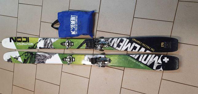 Narty skiturowe movement icon 95 175cm +Dynafit+foki