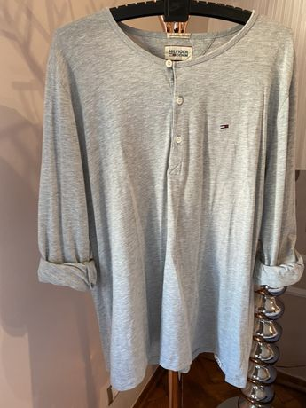 Longsleeve Tommy Hilfiger szara XL bluzka z długim rękawem