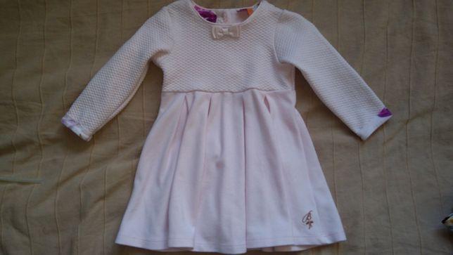 Nowa sukienka baker by ted baker 9-12 nowa pudrowy róż