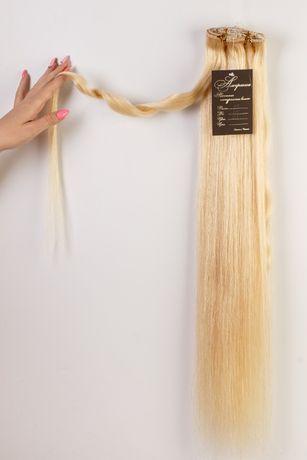 Натуральные волосы на заколках, трессы ВСЕ ЦВЕТА! СКИДКИ! 65 см 140 гр
