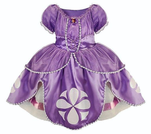 Карнавальное платье принцессы Софии прекрасной disney 6-7-8-9лет