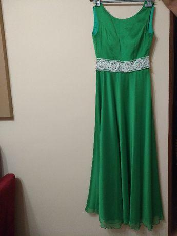 Długa, piękna suknia wieczorowa, roz. S.