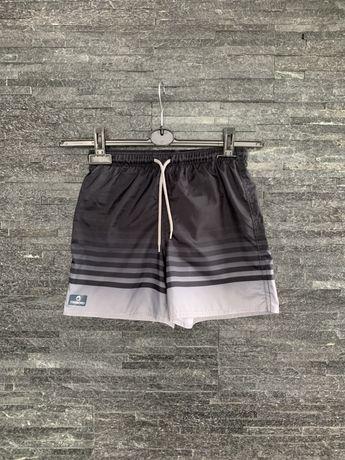 r. 134 cm / TRIBORD kąpielowe krótkie spodenki czarne kąpielówki