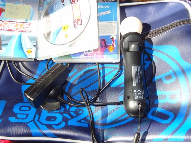 + PS MOVE , 2 gry PL kamera + zestaw Playstation Move PS3 PS4 SONY bdb