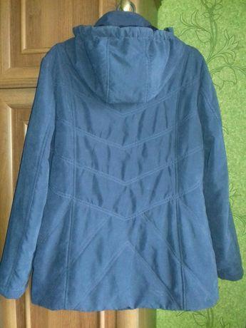 52 размер демисезонная куртка женская курточка весенняя.