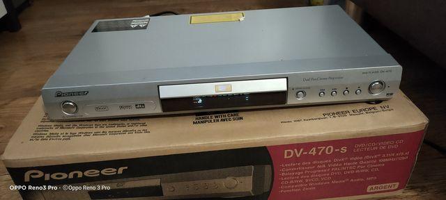 Odtwarzacz DVD PIONEER DV-470S + pilot. Uszkodzony.