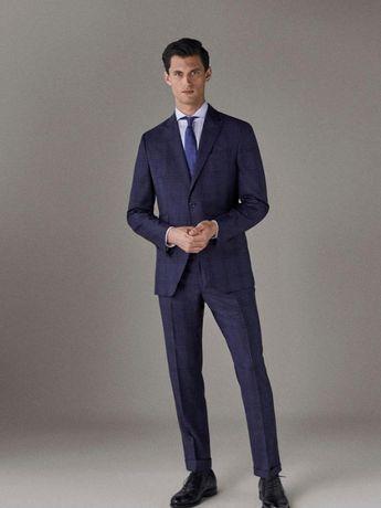 Massimo Dutti новые брюки костюмные штаны с отворотами оригинал