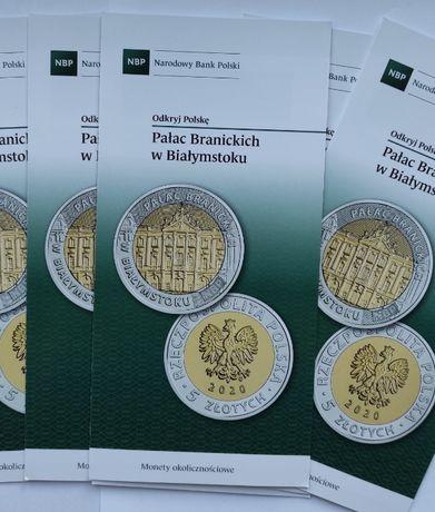 monety-5 zł 2020 r-Pałac Branickich w Białymstoku-FOLDERY