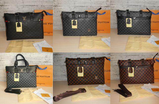 Распродажа! Сумка мужская портфель Louis Vuitton кожа, Франция