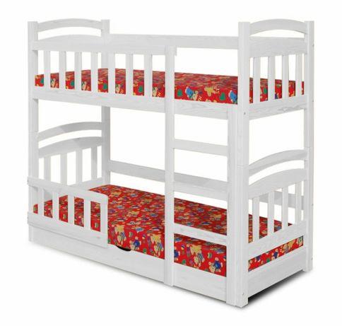 Piętrowe drewniane łóżko dwu osobowe młodzieżowe! Skrzynia na pościel