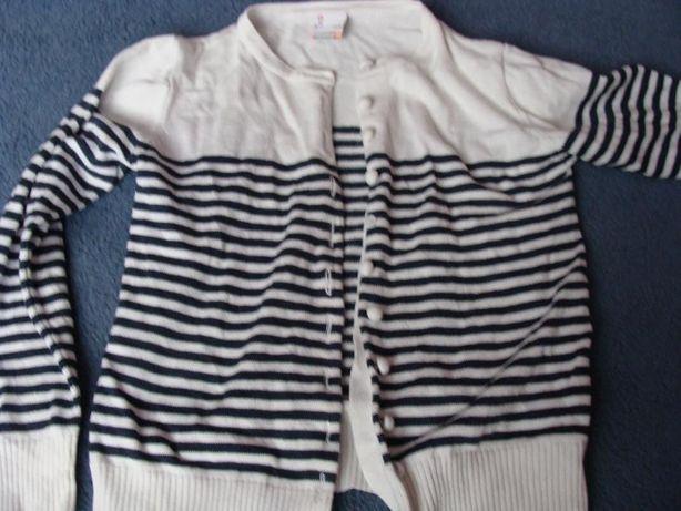 sweter dziewczęcy rozpinany rozmiar 134