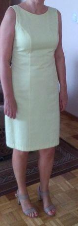 Piękna sukienka w kolorze cytrynowym firmy DanHen