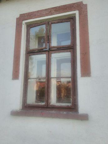 Okna stare drewniane zabytkowe dwukwaterowe szprosy 100/165