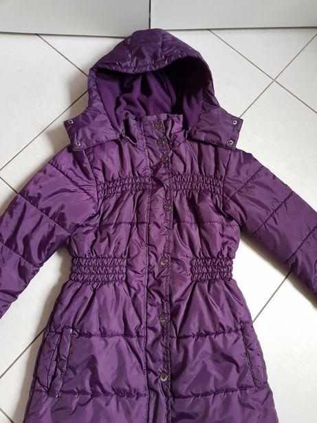 Płaszcz płaszczyk zimowy dla dziewczynki rozmiar 146 /152