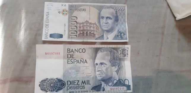 Banknoty 10000 tys. peset
