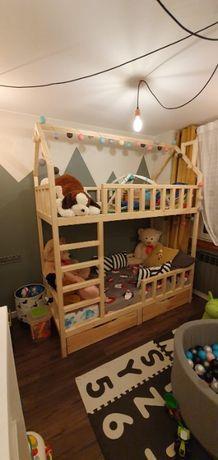 Łóżko domek piętrowe z szufladami w 5 dni!! Wszystkie wymiary.
