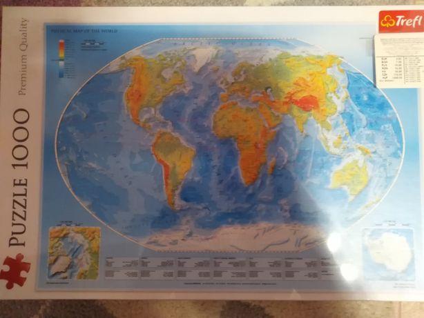 Puzzle trefl kula ziemska 1000 elementów