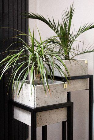 Doniczki betonowe ze stelażem loft!