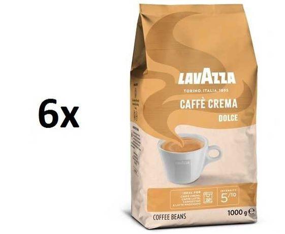 6szt Kawa ziarnista Lavazza Caffe Crema Dolce 1kg