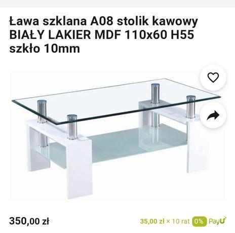 Ława szklana Grube szkło Lakierowana