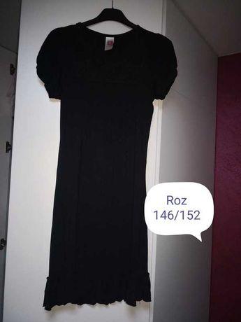 Czarna sukienka 146/152