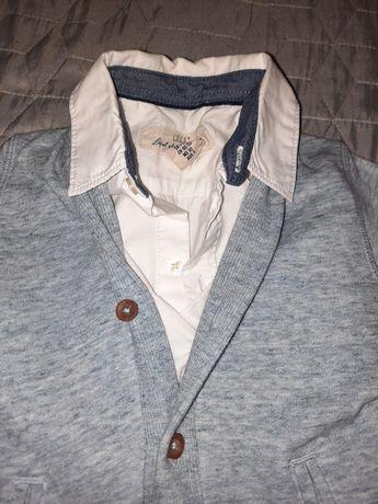 Zestaw Koszula i sweter H&M chłopięce 92 jak nowe!