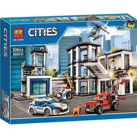 Конструктор Bella Cities 10660 Полицейский участок/936 деталей.