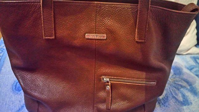"""Sprzedam przepiękną skórzaną torebkę renomowanej firmy """"Ryłko""""-HIT!"""