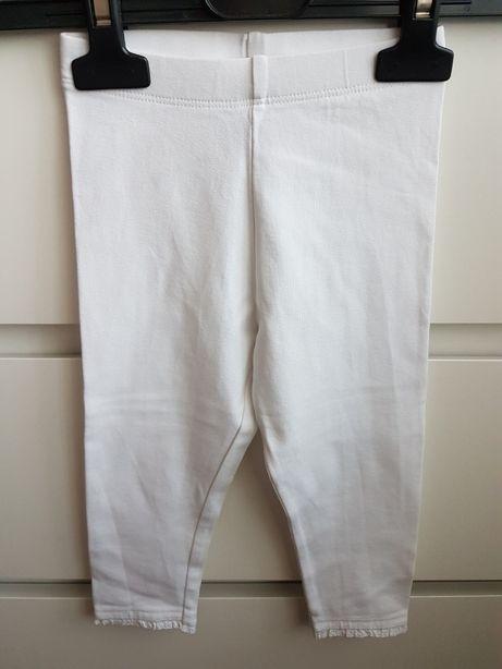 Białe legginsy Next rozm. 12-18 mc