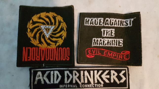 Stare naszywki akid drinkers, soundgarden, rage aganist the machine