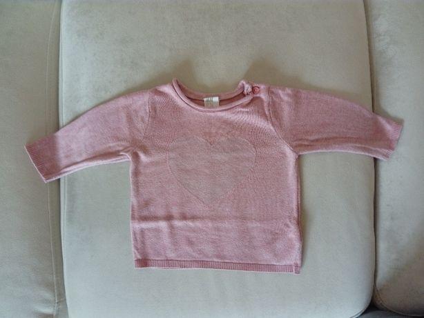 Cienki sweter r. 68 h&m sweterek