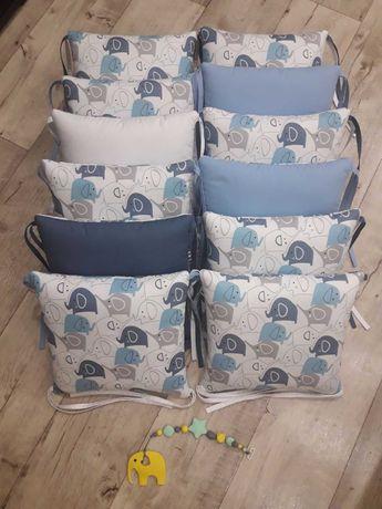 Комплект подушек-бортиков для детской кроватки
