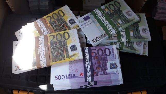 Евро сувенирные. Бутафория. Деньги сувенирные.