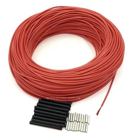 Нагревательный кабель карбоновый 33Ом углеродный, теплый пол 100м