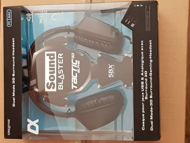 Słuchawki CREATIVE Sound Blaster Tactic3D Alpha plus karta dźwiękowa