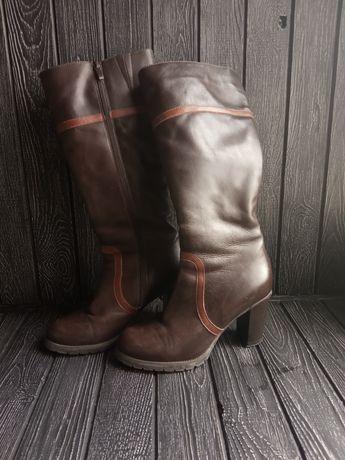 Зимние сапоги (кожаные)