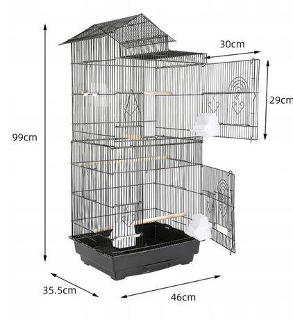 Duża klatka dla papug 99cm nowa