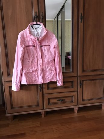 Różowa kurtka wiosenna z reservd