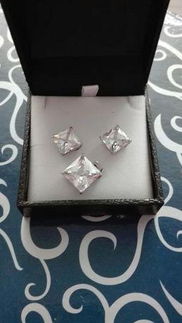 Piękny komplet srebrnej biżuterii
