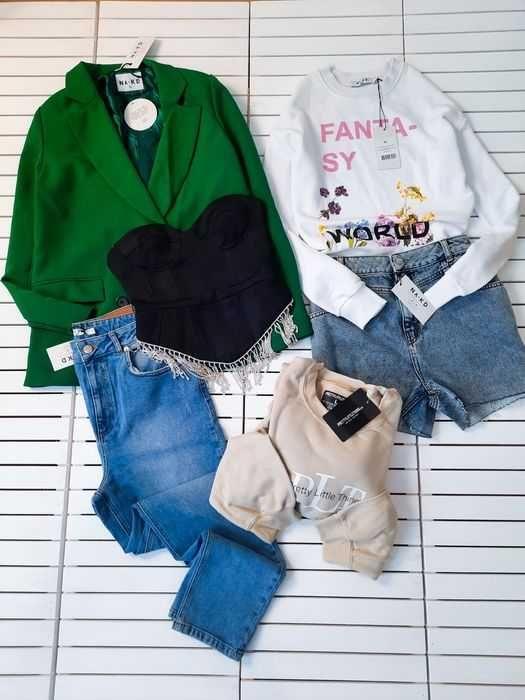 Сток оптом женская одежда Jennyfer Na-kd Boohoo Plt prettylittlething