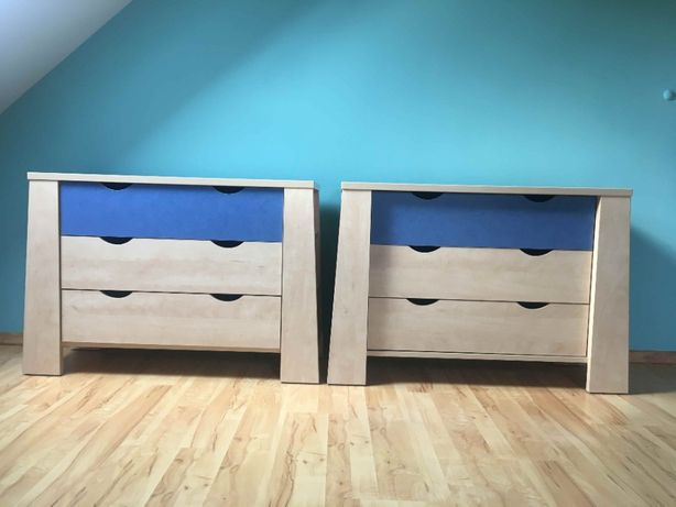 meble dla dzieci młodzieżowe szafa komoda łóżko zestaw tanio szafka