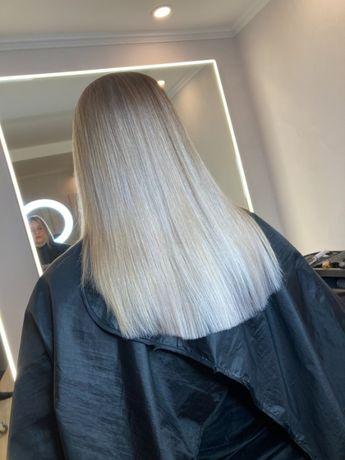 Cложные окрашевание волос Колорирование. Кератин Мелирование