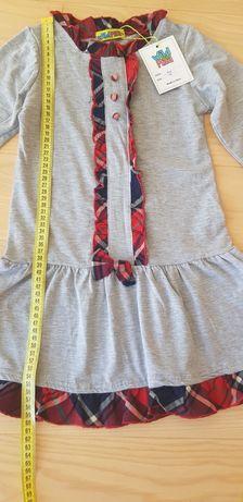 Платье новое длинным рукавом  на 116 -120 рост