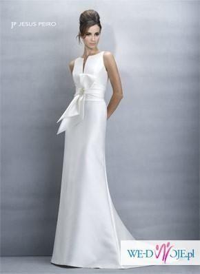Suknia ślubna zjawiskowa Jesus Peiro 104, oryginał, rozmiar 36