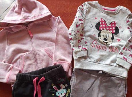 Bluza bluzy spodenki dresowe H&M Disney zestaw 92