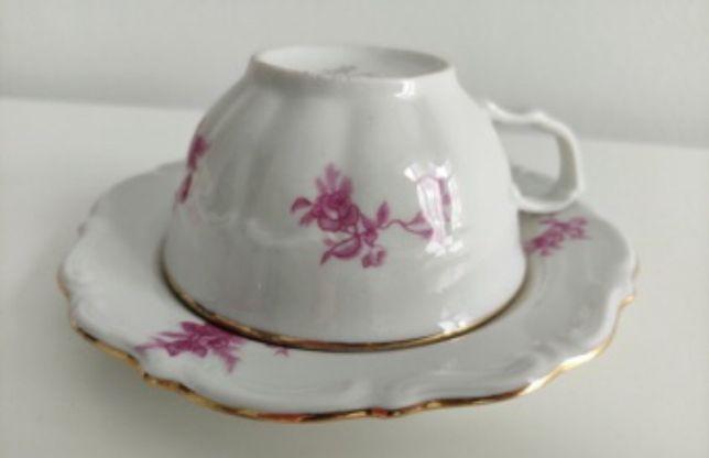 Zestaw kawowy/ porcelana Wałbrzych, PRL, Vintage (Ćmielów)